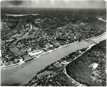 View of Charleston and the Kanawha River.