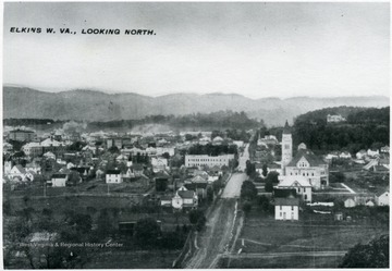 View of the city of Elkins, W.Va. looking from the North, Randolph County.