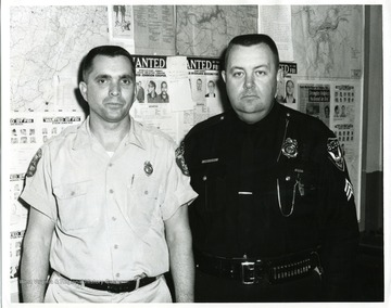 From left to right: Bill Workman, Fire Chief, and James George, Police Chief of Grafton, West Virginia.