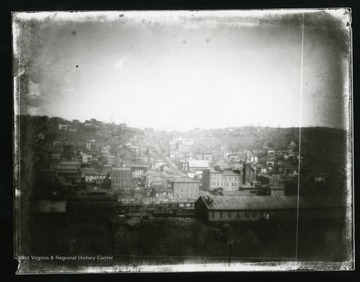 A view homes and businesses in Grafton, West Virginia around 1890.