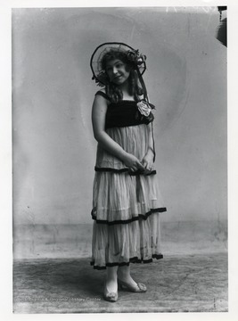 A female performer from the F. LaMonte Merry Makers group in Grafton, West Virginia.