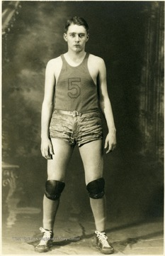 Portrait of Hamilton, a forward for the Grafton Basketball team.