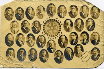 Portraits of the men in the Rotary Club in Grafton, W. Va.