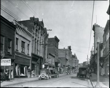 View of the shops on Main Street in Grafton, W. Va.