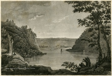 Engraving of Harpers Ferry, W. Va.  Junction of the rivers Shenandoah and Potomac.