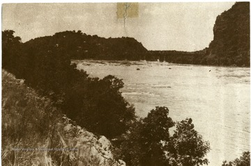 View alongside the river at Harpers Ferry, W. Va.