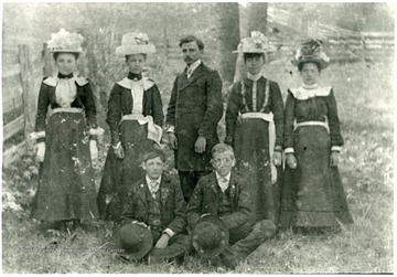 Identified in the group:The Reverend Arthur Steinebrey;  Oscar Hamilton; Edward Metzener; Bertha Bornhauser; Frieda Lehmann; Martha Haldemann; Bertha Engler (standing left)