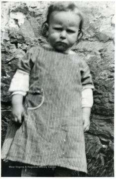 Close up shot of a young child, Helvetia, W. Va.
