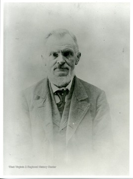 A portrait of an unidentified elderly man from Helvetia, West Virginia.