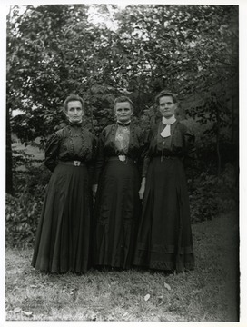 Right to left: Lisetta Stadler Kuenzler, Emma Stadler Burky, and Ida Stadler Betler; taken on the Stadler farm by Walter Aegerter.