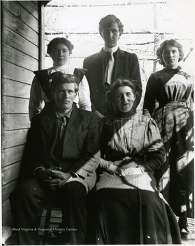 Unidentifed family posed for a portrait at Helvetia.