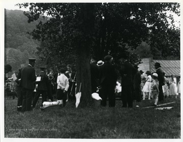 Members of the Helvetia Star Band attend a picnic.