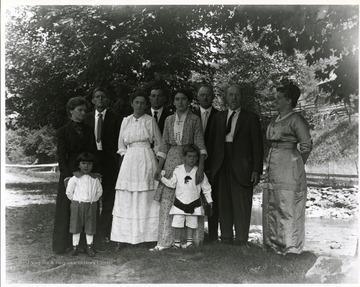 An unidentified family in Helvetia, West Virginia.