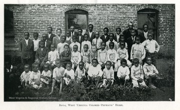 Group portrait of boys living at the West Virginia Colored Orphan's Home in Huntington, West Virginia.