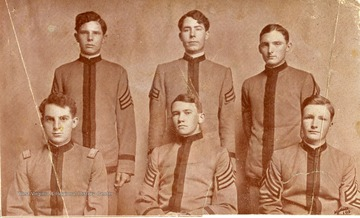 Five cadets from the Greenbrier Military School in Lewisburg, West Virginia.