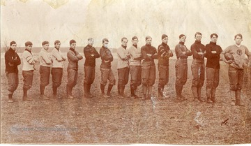 Members of the Football Team of the Greenbrier Military School in Lewisburg, West Virginia.