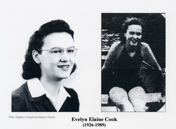 'Evelyn Elaine Cook, 1926-1989. Clarington now claims the youngest feminine pilot on the Ohio in the person of Evelyn Elaine Cook, 13, a high school freshman. She is known from Steubenville to Marietta as the pilot of the small towboat Rescue, owned by her father, boat builder and river man Charles Cook.'