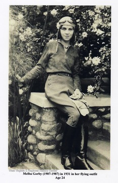 'Melba Gorby (1907-1987) in 1931 in her flying outfit. Age 24.'