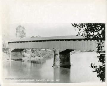 A view of the Old Covered Bridge in Philippi, West Virginia.