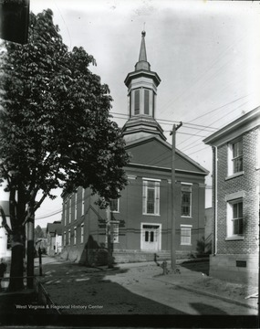 'The Methodist Protestant Church built in 1849 (now Cohe's furniture), served its congregation until 1904, when the new building at the corner of High and Willey Streets opened.""