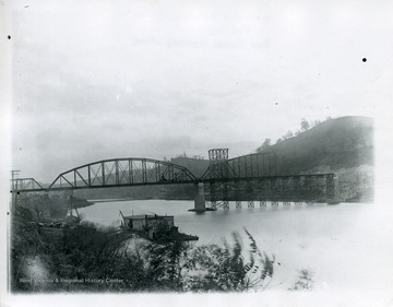 A view of the River Bridge in Morgantown, West Virginia.