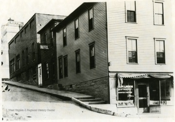 'Looking S. E. of corner of Moore and Garrett Streets.'