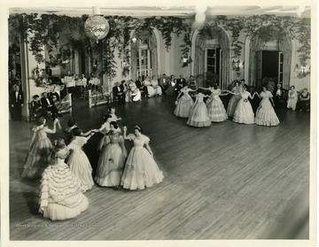 'Lee Monument Ball 1938 at the Greenbrier, White Sulphur Springs, West Virginia. The Riley Dance.'