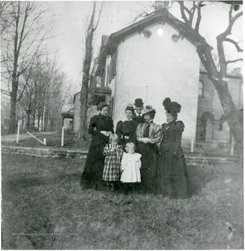 'Clara Gould Barbe, 2nd from left, 2nd row.'