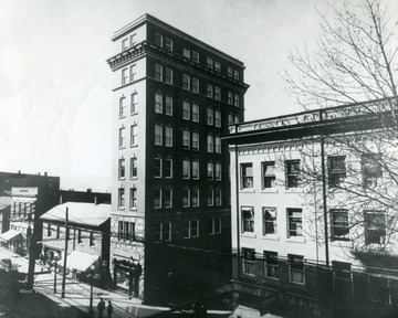 View of High Street at the corner of Fayette Street and High Street.