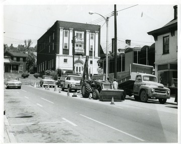 Construction of BBF on High Street in Morgantown, West Virginia.