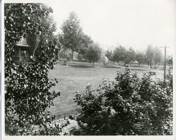 The grounds of I.C. White's house on Willey Street in Morgantown, West Virginia.