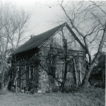 'Baker cabin on Baker's Ridge-moved from lower West Run Ridge.'