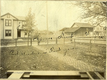 'Part of Henderson's Front Yard. C. S. R. No. 1 Filed with deposition of C. S. Rogers, Nov. 23, 1893. I. G. Lazell, Chair.'