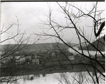 Town near the Monongahela River, possibly Point Marion, Pennsylvania.