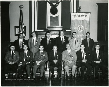 Group portrait of the Benevolent Protective Order of the Elks of Morgantown.