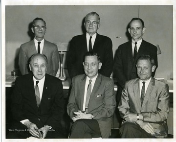 Councilman Otis Shahan (bottom row, cneter) and Mayor Arthur W. Buehler (bottom row, left) pose with other City Council members.