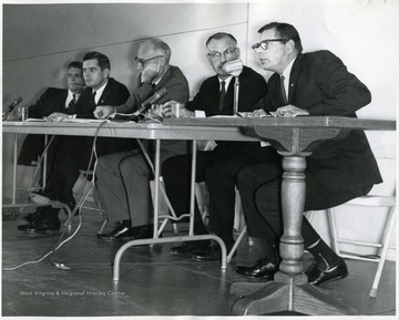 On the far left is Darrell V. McGraw.  Second from the right is Wm. R. Ross.