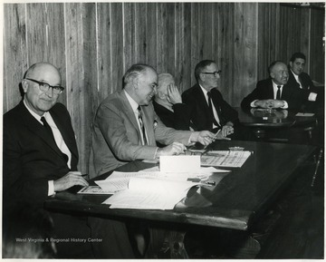 On the far right is David Soloman.  Second from the left is Dyke Raese.