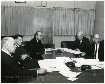 On the far left is Dyke Raese then Harry Helfin.  On the far right is Robert Nestor.