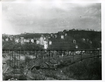A view of Morgantown from the Walnut Street Bridge.