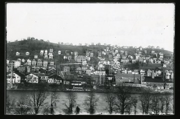 A view of the houses in the Seneca section of Morgantown, West Virginia.