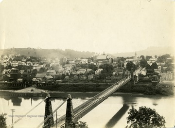 View from the west of the town and the bridge which spans the Monongahela River.