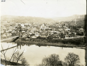 View of Morgantown looking across the Monongahela River from the west.