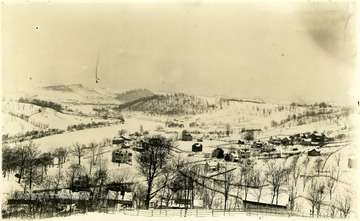 'Seneca Section of Morgantown and the Monongahela River. Taken from the Present site of Stalnaker Hall'.