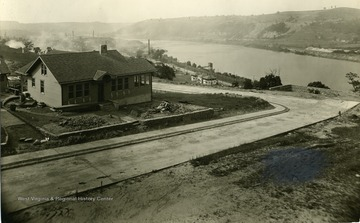 Newly constructed residence located in Morgantown, West Virginia. On the far right of the picture is the Monongahela River.