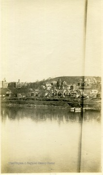View of Morgantown, West Virginia, looking across the Monongahela River from the West.