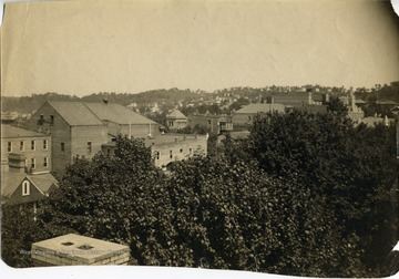 'From rear of Wiles Block, South East block of Wall Street and High Street, looking toward East Morgantown.'