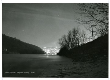 A view of the Monongahela River looking north to Morgantown and Westover, West Virginia.