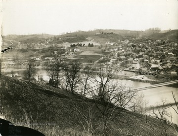 A view of Morgantown, West Virginia and the Monongahela River.