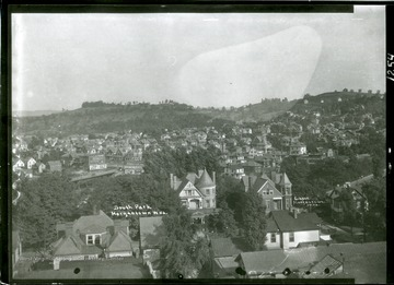 A view of South Park from High Street Building, corner of Pleasant and Spruce Street, lower right.